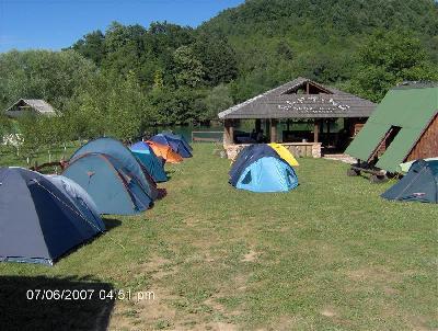 Kamp Bijeli Una rafting